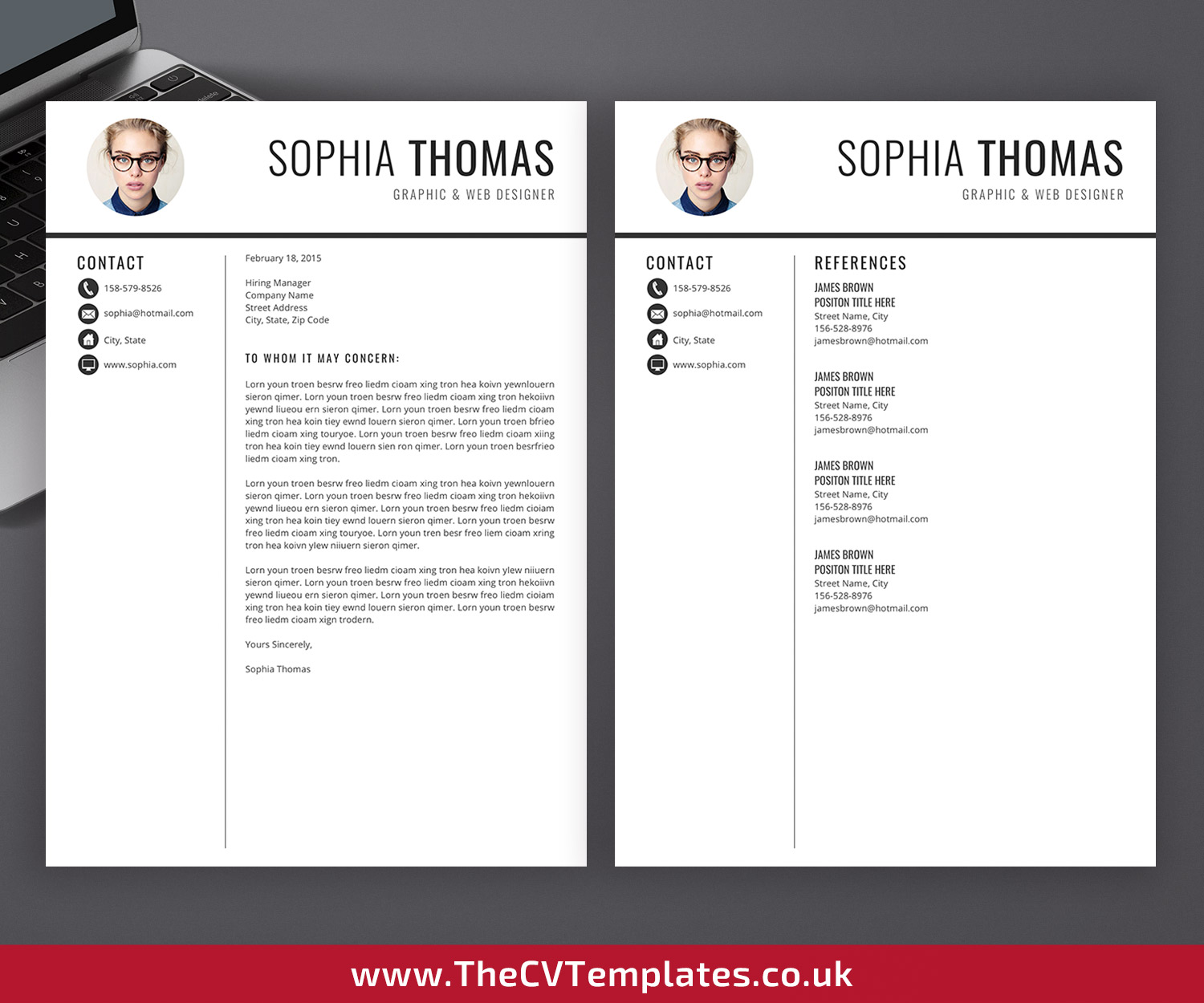 Professional Cv Template Cover Letter Curriculum Vitae Microsoft Word Resume Design Minimalist Resume Modern Resume Creative Resume Student Resume 1 2 3 Page Resume Instant Download Thecvtemplates Co Uk